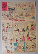 Mickey Mouse Sunday Page by Walt Disney from 6/2/1935 Tabloid Page Size