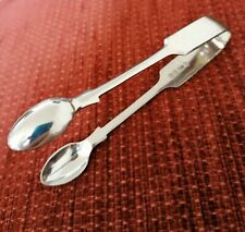 Nice Antique Nickel Silver Sugar Tongs
