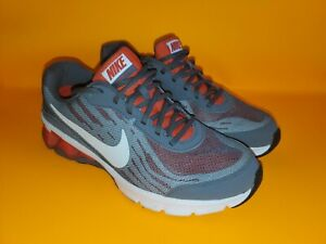 Nike Reax Run 9 Running Shoes Mens sz 9.5 Grey Red White Fitsole 653617-005