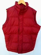 ABERCROMBIE AND FITCH MENS PUFFY DOWN VEST LARGE CHEERY RED