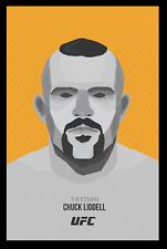 Chuck Liddell Minimal Art Poster Print Glossy 8x10 Hologram & Numbered MMA Judo