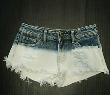 Bullhead Juniors Shorts Size 1 Booty Distressed Dyed Bleached Frayed Hem Shorty