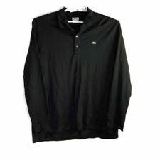 Camicie casual e maglie da uomo neri Lacoste
