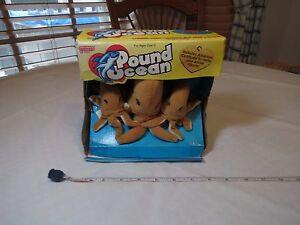 Galoob Pound puppies Ocean octopus family plush adoption RARE 30665 3 1998 NOS
