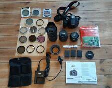 Canon EOS 1300D 18MP SLR camera 3 x lens EF-S 18-55,EF 75-300,EF 50mm 3x battery