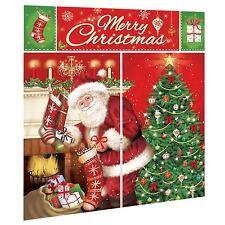 6ft Merry Christmas Santa Xmas Tree Scene Setter Wall Decoration Banner Backdrop