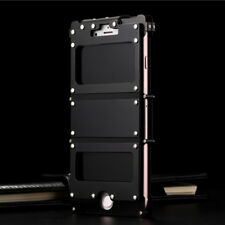 For iPhone X 8 7 6S Plus R-JUST Stainless Steel Aluminum Metal Bumper Case Cover