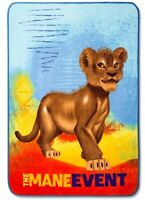 New Simba The Lion King Plush Fleece Gift Throw Blanket Disney Movie Mane Event