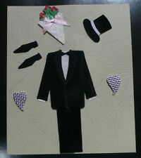 3D Wedding Groom Engagement Embellishments Craft Pack Card Toppers. Free UK P&P