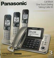 Panasonic - KXTGF353N - Dect 3-Handset Landline Telephone - Champagne Gold