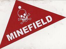 MINEFIELD SOUTHEAST ASIA WAR SURPLUS METALLIC ARMY WARNING SIGN