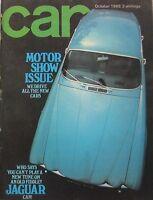 CAR magazine 10/1968 featuring Sunbeam Rapier V's Fiat 124S, Jaguar E-type