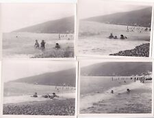 1958 Nude Sexy Women in swimsuits girls man beach set of 4 Russian Soviet photo
