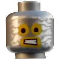 Lego Kopf silber (flat silver) für Minifigur 3626cpb1113 Roboter Robo Emmet Neu