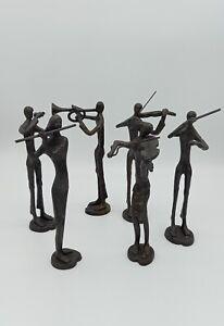 Bronze Ornamental Music Band Figures