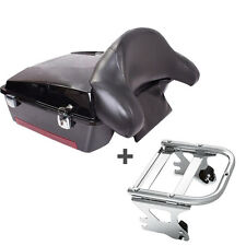 Black trunk Tour pak pack for Harley Road King Electra glide w/backrest+Rack