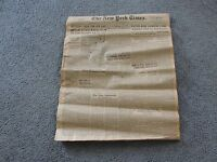 WWII NEWSPAPER September 11,1942-The New York Times-BRITISH ATTACK MADAGASCAR.