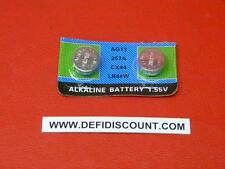 Piles boutons vendu par x2 LR44 AG13 alcaline 1,5v destockage