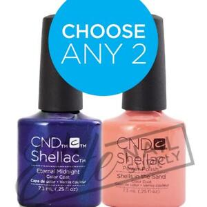 CND SHELLAC - 7.3ml - Any 2 Colours + FREE Remover Wraps 10ct Valued at $6.95