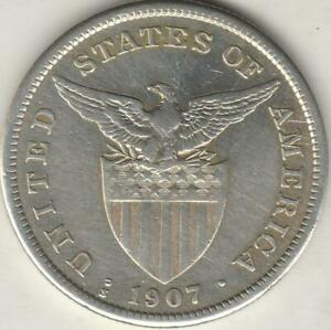 US-PHILIPPINES 1 Peso 1907 S, Silver Coin