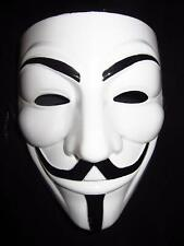 White V for Vendetta Anonymous Film Guy Fawkes Face Mask Halloween Cosplay