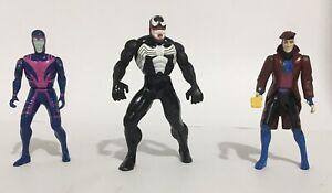 Venom, Gambit, Archangel - Marvel MINI FIGURES Die-Cast metal Toy Biz 1990's