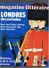 MAGAZINE LITTERAIRE N°230 1986 LONDRES DES ECRIVAINS / LE CLEZIO