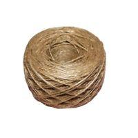 100 Meter - Natural Textured Hessian Jute Twine String 1mm C3P5
