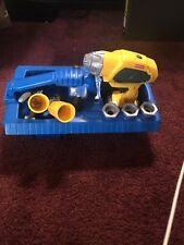 Fisher Price Toy tool box set WORKING DRILL Screwdriver Screws Pliers Tool Caddy