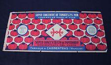 1 grande ancienne etiquette boite conserve tomate concentré 51,5*22cm Carpentras