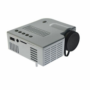 4K 3D 1080P Mini White LED LCD Projector Cinema HDMI Room Home Theater