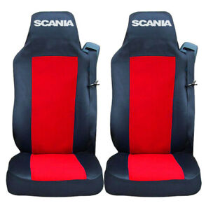 Set of 2 Seat Covers RED for SCANIA R P G Series Truck Tailored Lorry HGV
