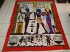 """Antique Egyptian Appliqué  Hand Woven Textile Wall Hanging Tapestry size 93""""x73"""""""