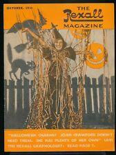 JOAN CRAWFORD Halloween Cover of The REXALL Magazine October 1933 EX