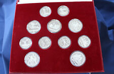 1980 Moscow Olympic 28 Silver Coin Proof Set with Box and COA E3874