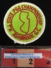 Vtg. Patch NEW JERSEY PGA ASHBROOK CHAMPIONSHIP Golf Country Club 5OU9 ex