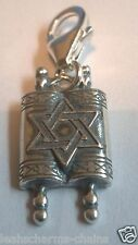 clip on TORAH SCROLLS CHARM sterling silver charms Sab@ Jewish Religious