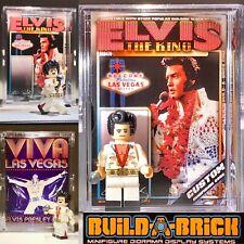 ELVIS PRESLEY King Of Rock Custom Mini Action Figure w Display Case 470 Mini-fig