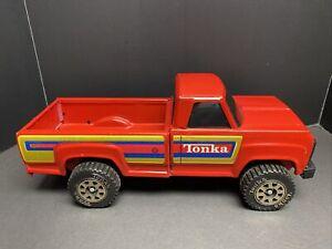 EUC Great Cond. 1980's Red Tonka Pick Up w/ Black Windows