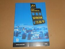 F1 Formula 1 1997 Silverstone British Grand Prix Official Racecard Motor Racing