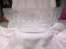 c1820 Anglo Irish / American Early Sandwich Glass Mold Blown & Cut Punch Bowl