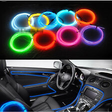 5m Blue EL Cold Light Car Dash Panel Strip Neon Lamp Mood Creater Decor - 12V