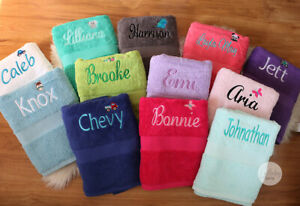 Personalised Bath Towel, Embroidered Towel, Great Gift