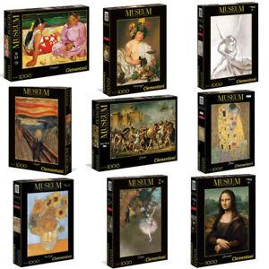 Clementoni Assortimento Museum Collection Puzzle 1000 van gogh leonardo vermeer