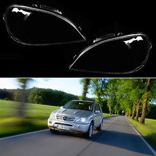 Mercedes ML W163 FACELIFT Headlight Glass Head lamp Lens Plastic Cover (PAIR)