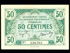 French Equatorial Africa:P-1a,50 Centimes,1917 * RARE * EF *