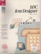"""Software hDC Icon Designer 1990 3.5"""" and 5.25"""" Disks Sealed Vintage"""