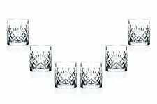 Melodia DOF Stemless Glasses 10.5 Oz, Crystal Cut Party Glassware Set of (6)
