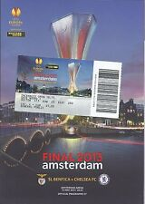 2013 Europa League Final Chelsea v Benfica UEFA Cup Programm + Ticket