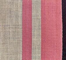 "antique millinery ribbon: dusty rose+cream grosgrain+batiste ribbon 6"" w by 176"""